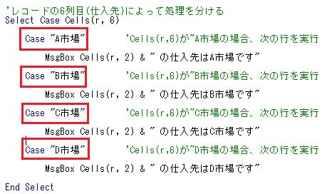 Select文の分岐条件説明